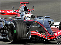 Kimi Raikkonen in his McLaren-Mercedes