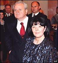 Slobodan Milosevic and Mirjana Markovic