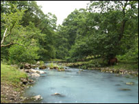 Blue Pool on the River Taf Fechan