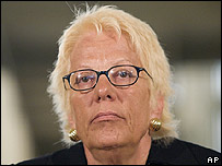 UN chief war crimes prosecutor Carla del Ponte