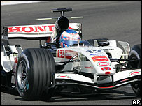 Jenson Button in his Honda during the Bahrain Grand Prix