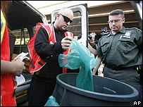 Boy George reports for garbage duty