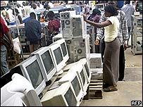 Computer market in Lagos