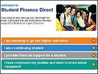 Student Finance web site