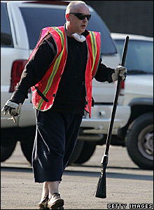 Boy George performing community service in New York