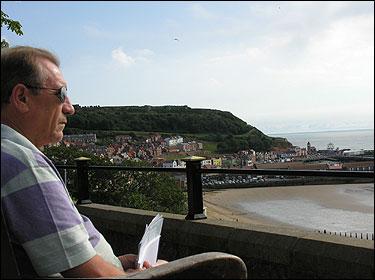 Barry Wilson overlooks Scarborough Bay