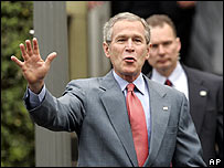 US President George W Bush.