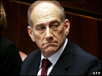 Israeli Prime Minister Ehud Olmert in the Knesset, 14 August 2006