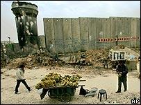 Israeli military checkpoint at Kalandia, near Ramallah