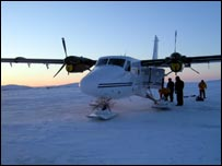 Twin Otter DHC 6 being loaded (Image: Ice Warrior expedition)
