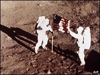 Imágenes de misión lunar.
