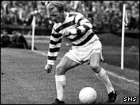 Jimmy Johnstone prepares for some wing trickery