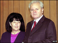 Mira and Slobodan Milosevic in September 2000