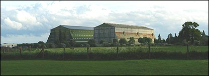 Cardington airship hangars (Picture: Wallace Brown)