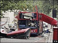 Tavistock Square bomb scene