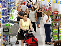 Shoppers in US Wal-Mart store