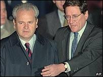 Slobodan Milosevic and Richard Holbrooke