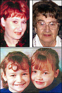 Mandy Power, her mother Doris, Katie (left) and Emily