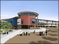 Eyemouth High School artist's impression