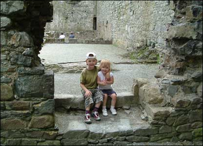 Robert and Megan Stirrup from Sheffield enjoying a visit to Harlech Castle (Mary and Peter Owen)
