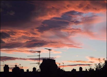Mark Evans, from Penylan in Cardiff took this shot from his roof