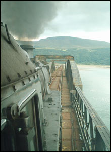 Mark Herbert took this unusual view of the steam train crossing Barmouth Bridge
