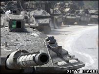 Israeli Merkava battle tank