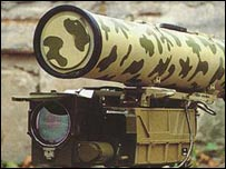 Kornet E anti-armour missile. Source: Army-technology.com