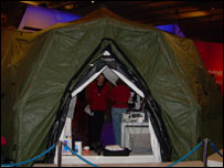 "The tent to house ""the world's highest medical experiment"""