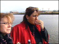 Karen Kelly (left) with psychic Diane Lazarus