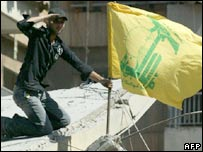 Hezbollah flag in Beirut