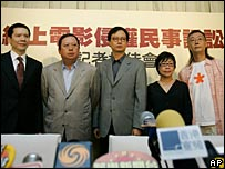 Charles Heung Wah-keung, Peter Lam Kin-ngok, John Chong, Audrey Lee and Samson Chui from Hong Kong's film industry