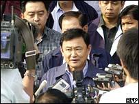 Thai prime minister, Thaksin Shinawatra