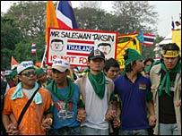 Anti-Thaksin protesters
