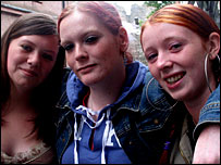 [from left] Bobbie Docherty, Vicky Ogilivie, Michaela Dunn