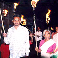 Sunil Kumar Verma campaigning for Bhopal gas victims