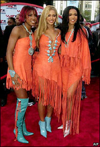 Ex-Destiny's Child members Kelly Rowland, Beyonce Knowles and Michelle Williams