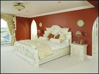 A bedroom in the house