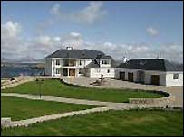 The rear of Donegal Shore House
