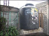 Tanque de agua en Iztapalapa