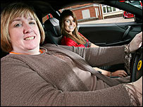 Heather Lynne Jones of Road Safety Wales and Miss Wales Sarah Fleming;