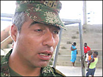 Richard Gutiérrez, coronel de la brigada móvil número 16 el ejército colombiano.