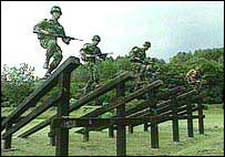 Indonesian soldiers training