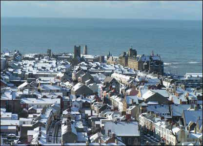 The rooftops of Aberystwyth looking towards the old college (Duncan Blackburn)