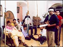 Mr Raju (right) directs his actors