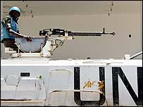 UN peacekeeper from existing Unifil force in Lebanon - 15 August 2006