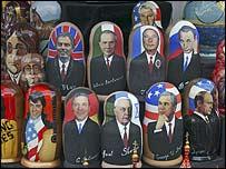 Muñecas rusas de personajes mundiales