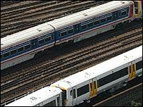 Trains outside London