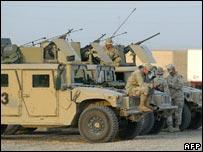 US troops in Baghdad in 2005