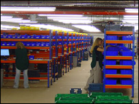 LoveFilm's distribution warehouse